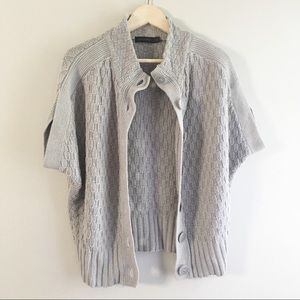 The Limited Gray Button Down Poncho Sweater